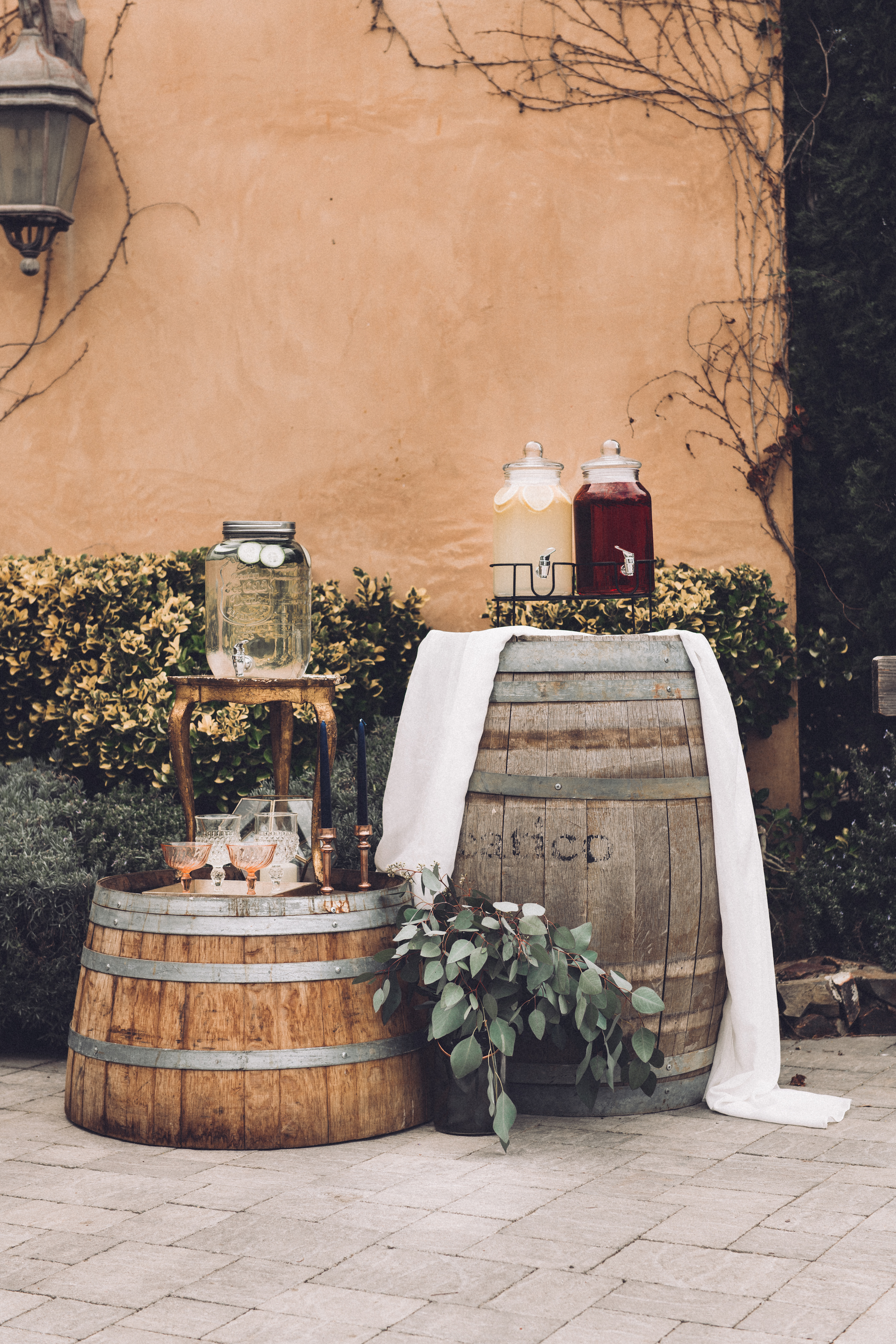 - Drink stations are a necessity when having cocktail hour. Just another service that Sage Bleu Catering offers!@sagebleucatering