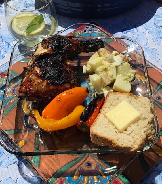 Finish off the plate with some grilled chicken and you have a feast! -
