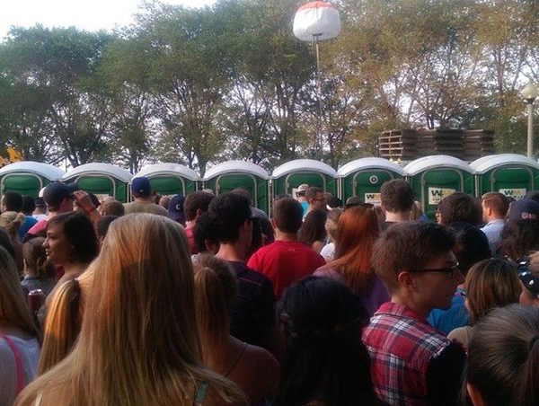 Crowds - Portapotties