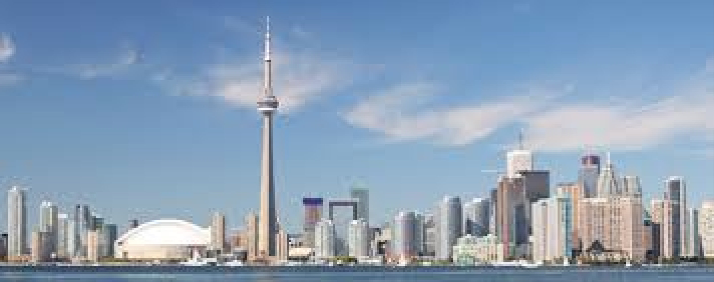 Skyline of Toronto, Ontario   the site of Toronto Emmanuel Church