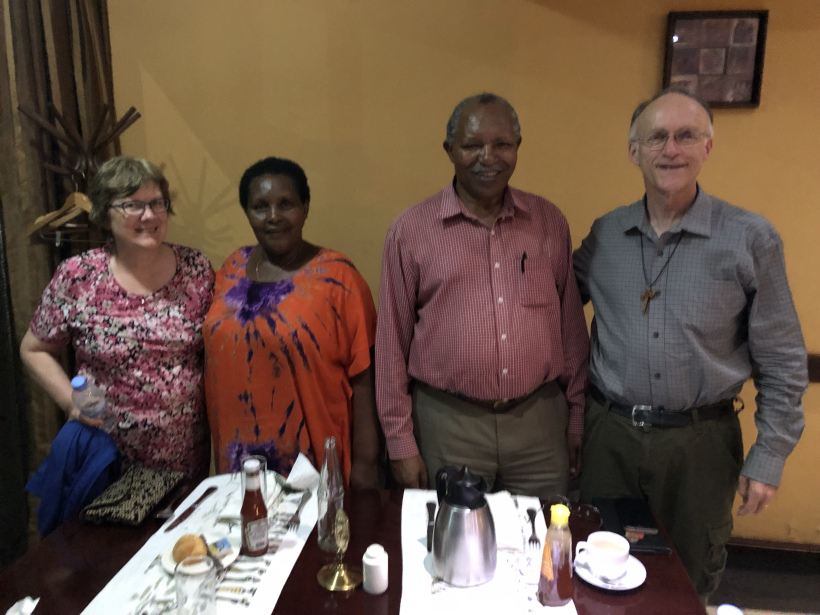 Ed and Janice with retired archbishop of Rwanda Emmanuel Kolini and his wife Freda.