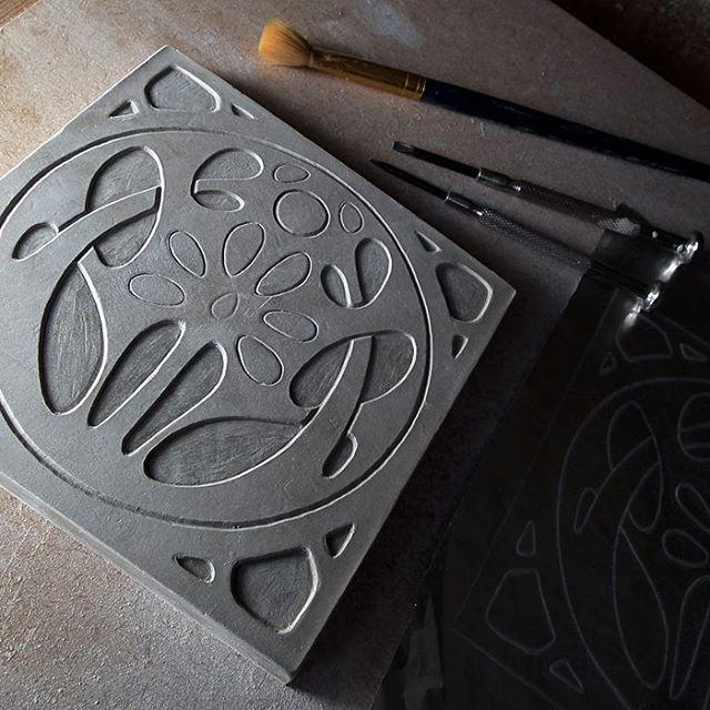 Art Nouveau Inspired tile design