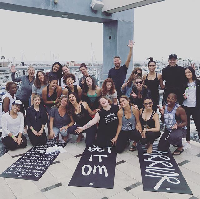 5 years ago we threw a yoga party @redondopier. Who knew it'd live on month after month after month!! THANK YOU #southbay COMMUNITY!! We adore you! #getlit #cancerwarrior