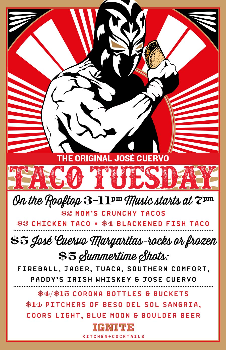 Taco Tuesday at Ignite Kitchen + Cocktails