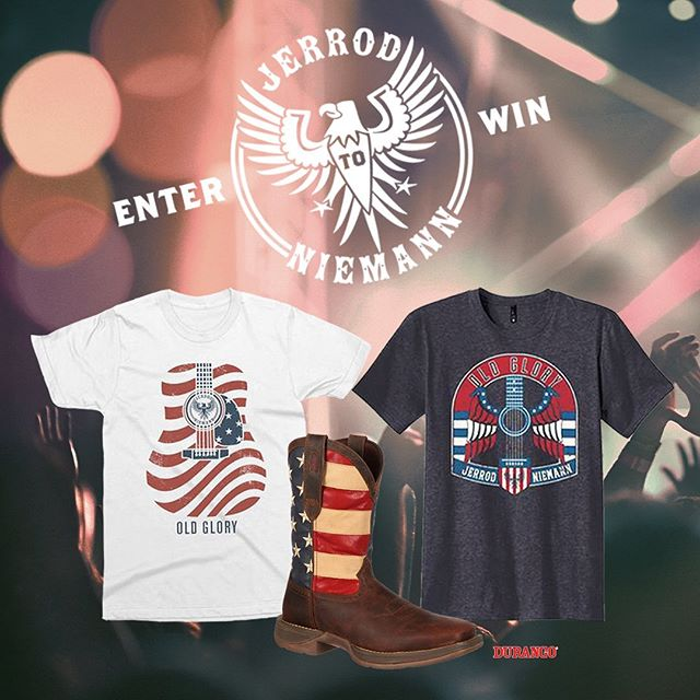 ENTER TO WIN! 🇺🇸 Enter now for a chance to win an #OldGlory merch bag that includes 2 T-Shirts + a pair of patriotic @durangoboots! Link in bio!