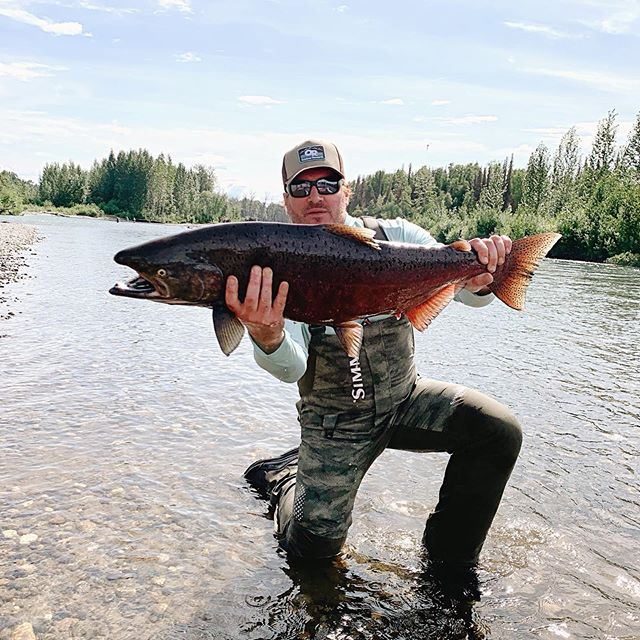 Nothing beats hanging out in Alaska with the King. There's truly nothing like it. #alaska #anchorage #lakecreek #fishing #kingsalmon #weekone #thankful