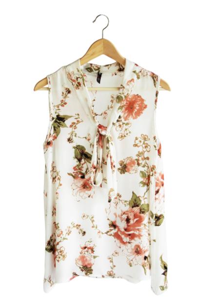 Floral Tie-Top - Sweet Lupine | $37 | Use code