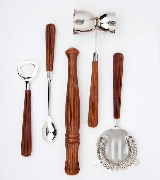Hand Carved Bar Tool Set - Ten Thousand Villages | $53 with discount code