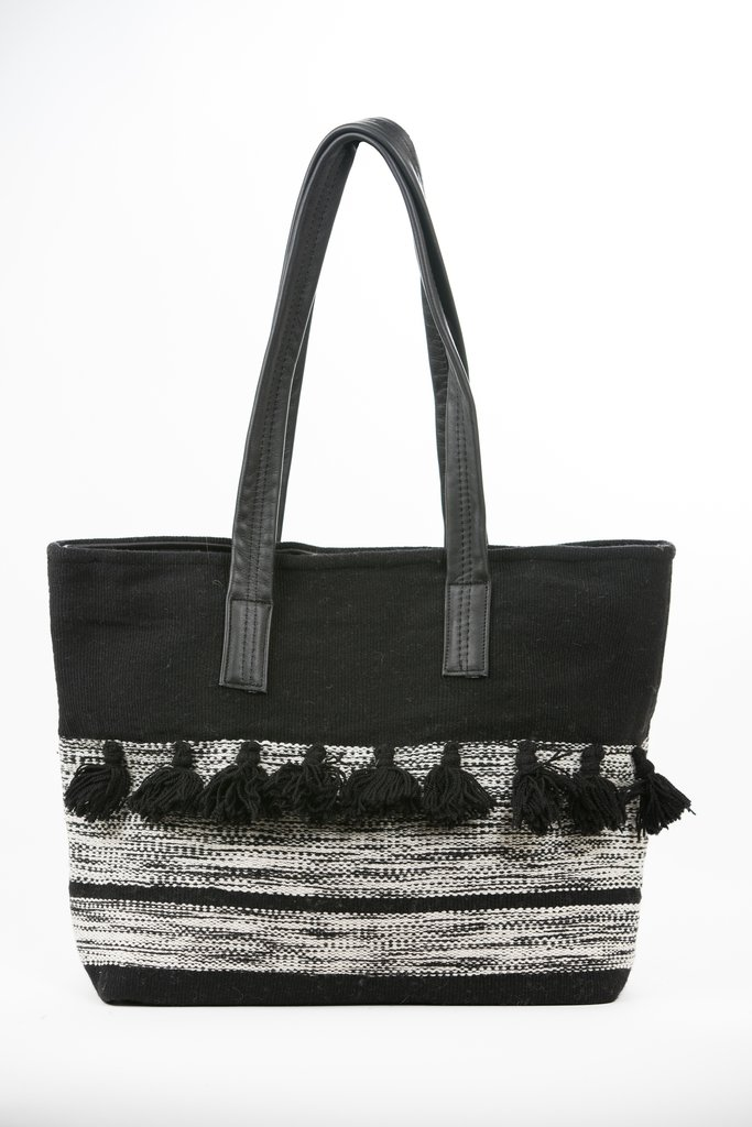 """Tassel Tote Bag - Genesis Fair Trade   Fair Trade Certified   $62 with code """"SHOPGENESISFAIR"""" for 25% off*I own this tote bag and love how durable it is! It's the perfect size for a laptop and then some!"""