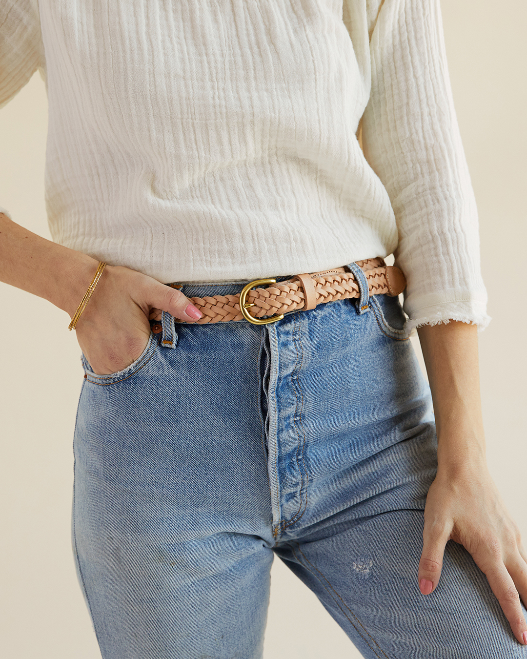 Braided Leather Belt - Nisolo | Ethically made | $48A closet staple, you can't go wrong with Nisolo's high quality leather belts and shoes!