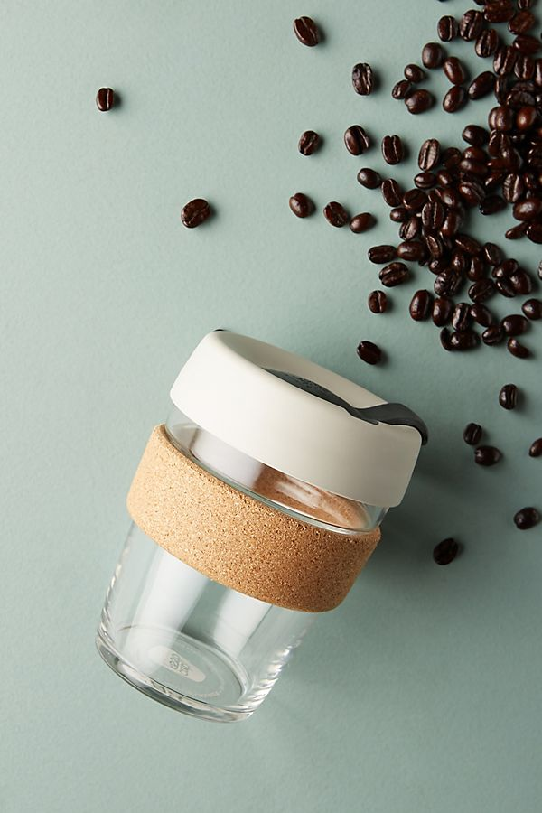 Reusable Glass Coffee Cup - Keep Cup, Anthropologie | $26Perfect for coffee and tea lovers alike!