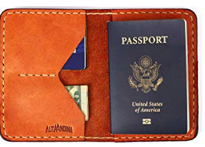 Leather Passport Holder - Alta Andina | The perfect gift for anyone who loves to travel. This handy passport holder also has space for your ID, money, and cards!
