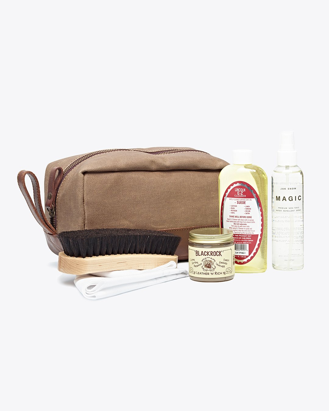 Shoe Care Kit - Nisolo | This leather shoe care kit comes with all the bells and whistles, including a beautiful travel bag to keep it all in.