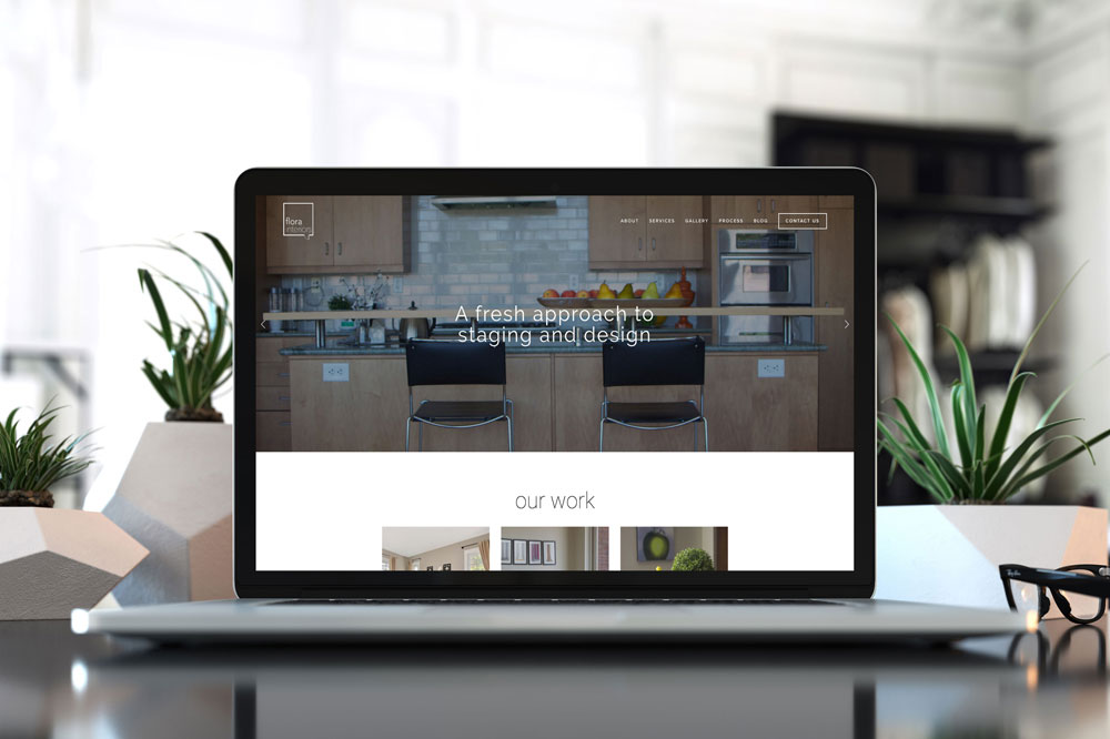 small business website for flora interiors