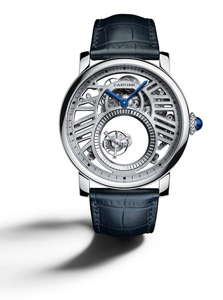 Rotonde de Cartier Mysterious Double Tourbillon watch  45 mm, manual, platinum, leather  £188,000  Stockist information:www.cartier.co.uk