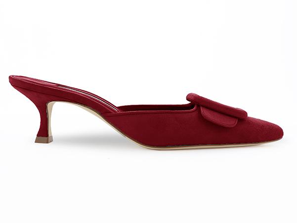 Manolo  Suede kitten heels, £545