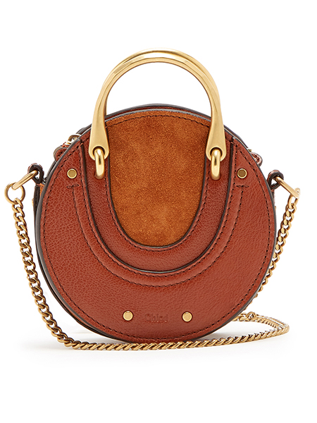 Chloé  Mini leather and suede cross-body bag, £705