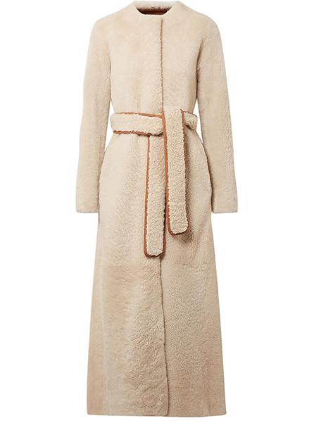 The Row  Oversized Shearling coat, £5,250