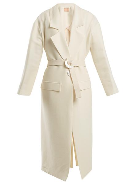 Albus Lumen  Elle wool and silk-blend coat, £730,