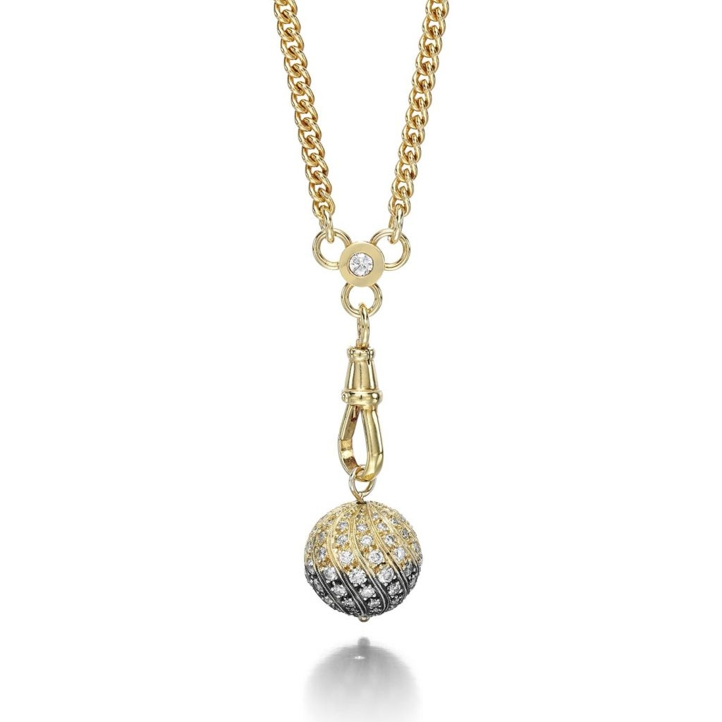 This mesmerising necklace has an edgy feel, featuring brilliant-cut diamonds, hand-crafted in 18-carat yellow gold and silver on a chunky gold chain. £17,000 (jessicamccormack.com)