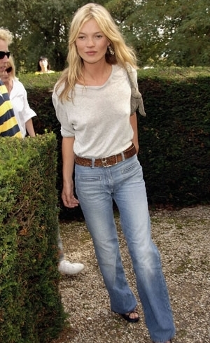 5. THE MUSE KATE MOSS - The muse for just about anything in life. This beauty can pull off anything from denim dressed both up and down.