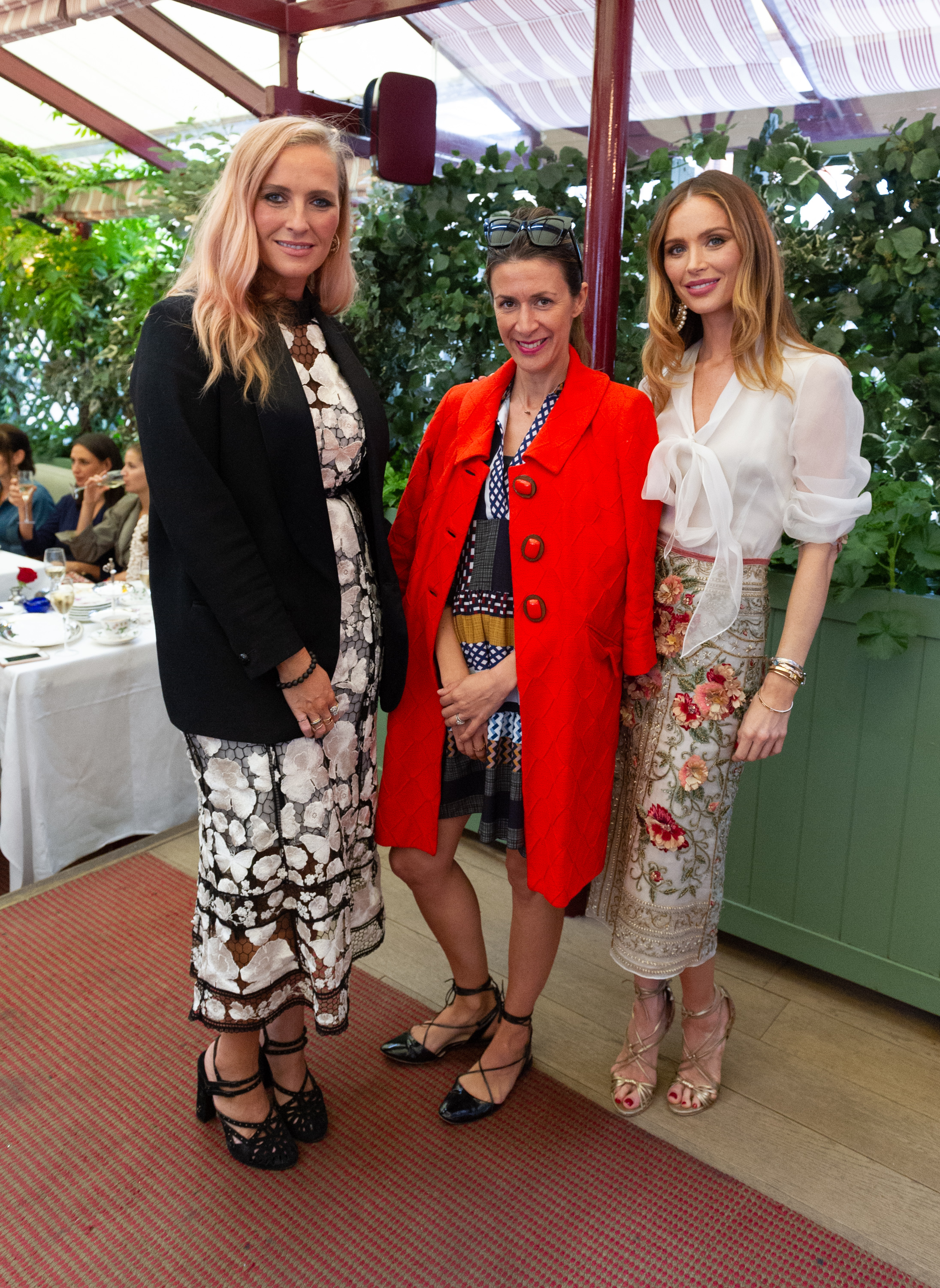 Marchesa founder Georgina Chapman, MINE editor Astrid Joss with Marchesa founder Keren Craig