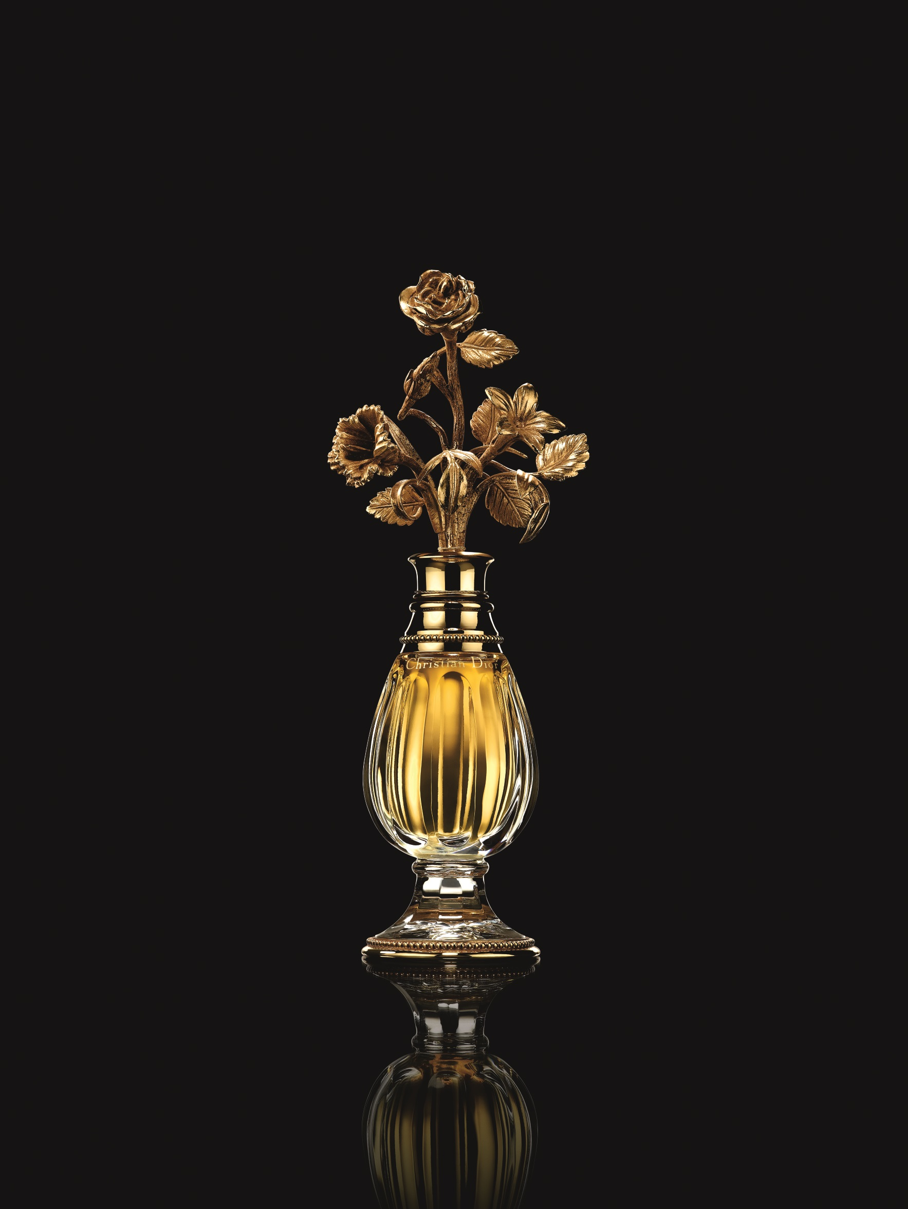 Baccarat crystal bottle designed by Christian Dior for Diorissimo perfume, 1956. Photo (c) Laziz Hamani. Christian Dior Parfums collection.jpg