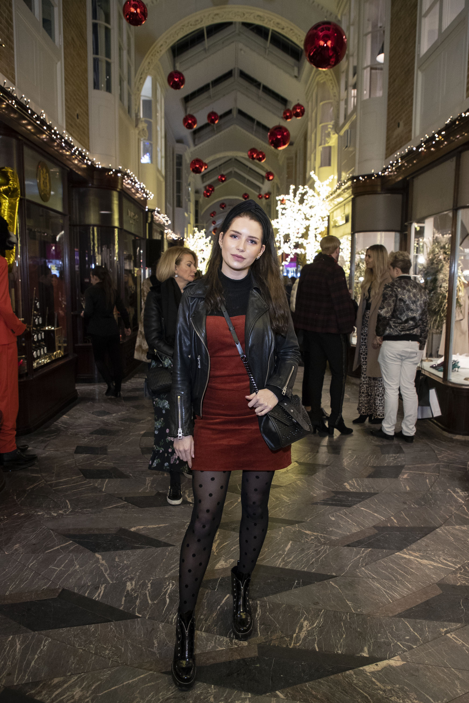 Lottie Moss at Burlington Arcade, Christmas Lights.JPG