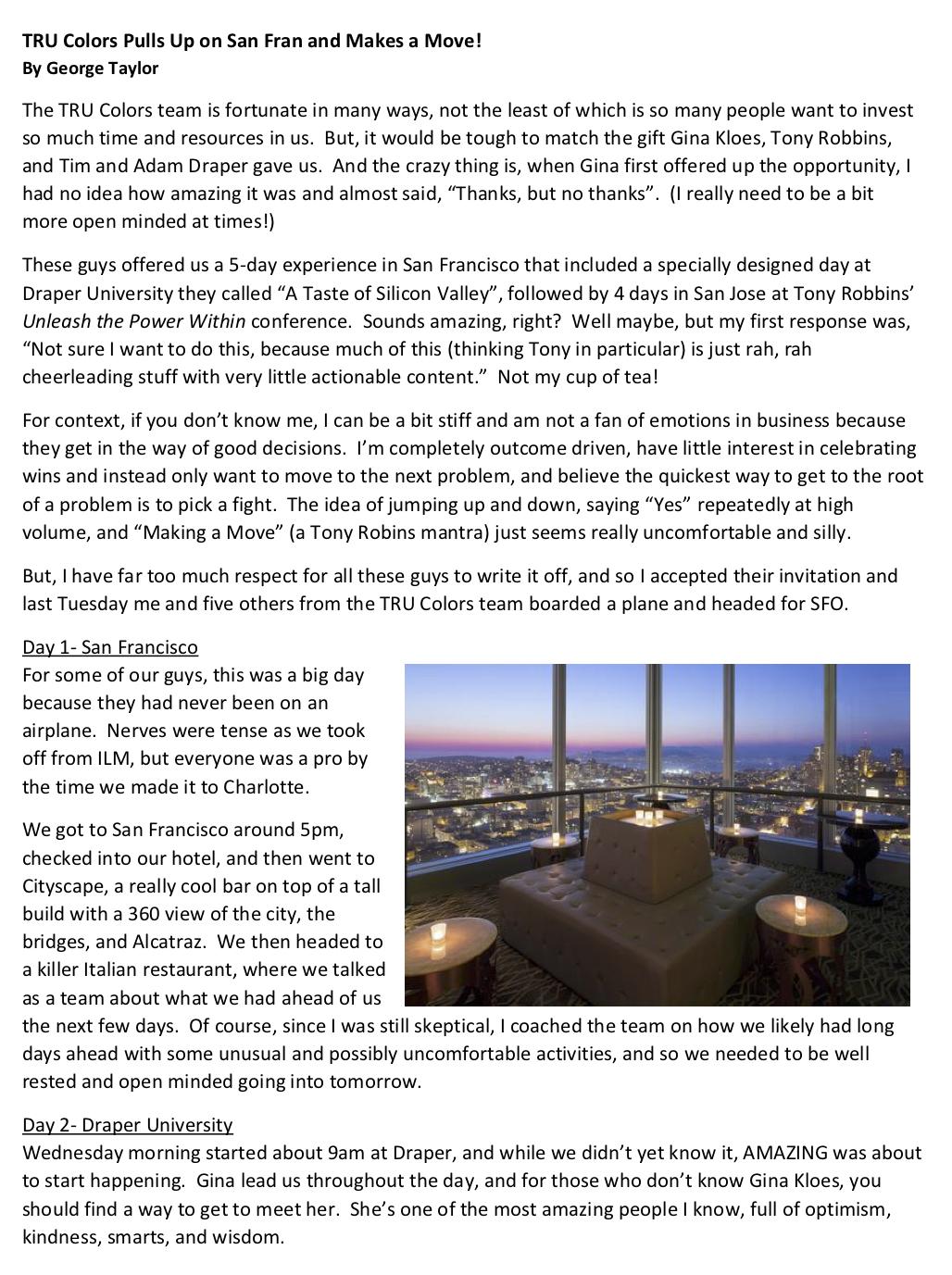 GinaKloes.com Blog TruColors San Francisco 1 of 5