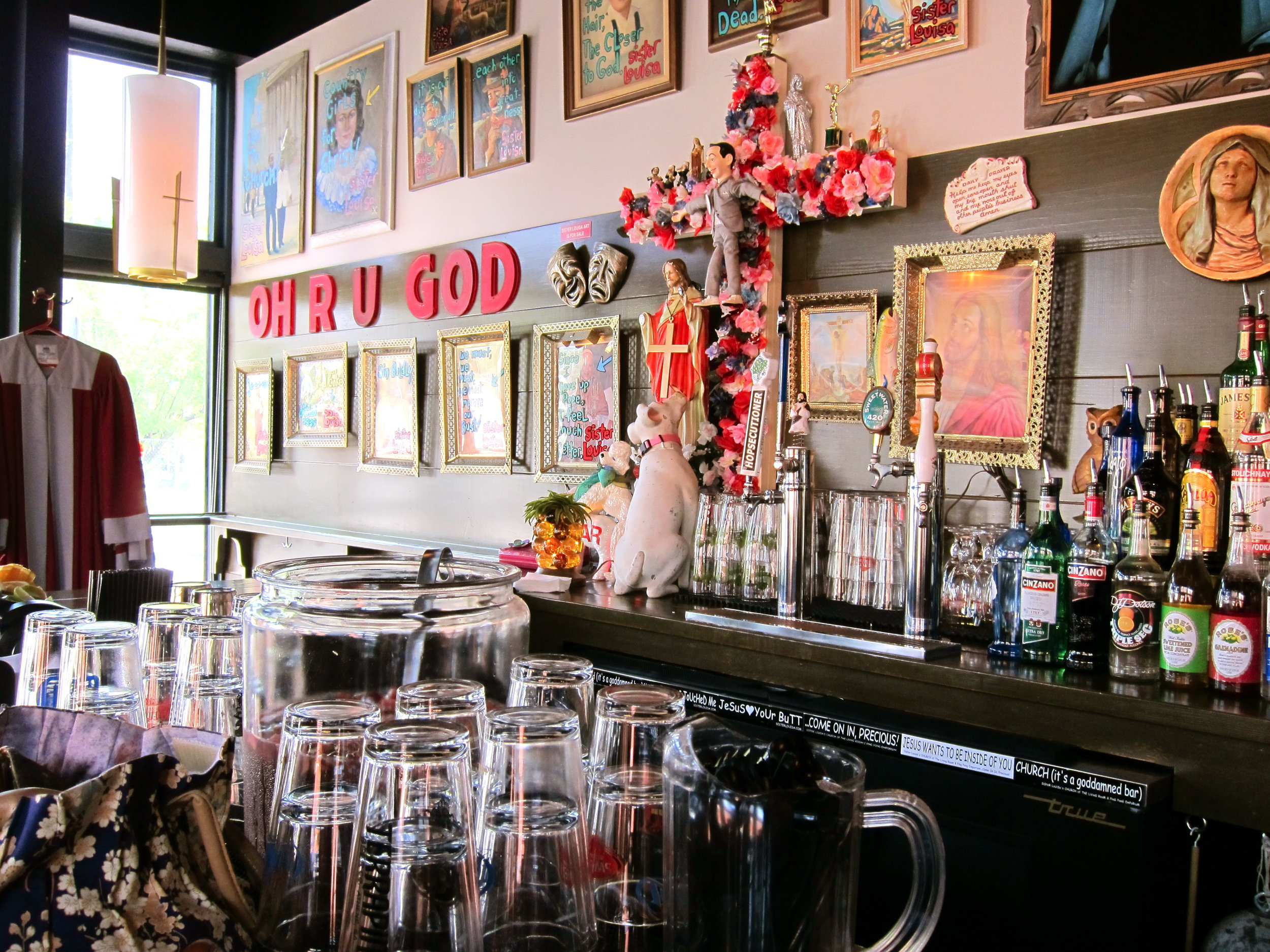- Atlanta also loves its bars and its churches... but what about a bar called