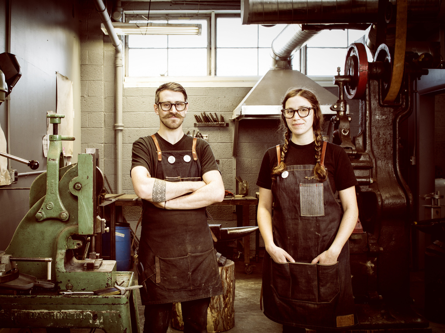 - The owners of Smith Shop, Amy Weiks and Gabriel Craig are the designers of the work, and a crew of apprentices help them complete each object. Custom work is carefully brought from customer input to design concept, to fabrication and installation.