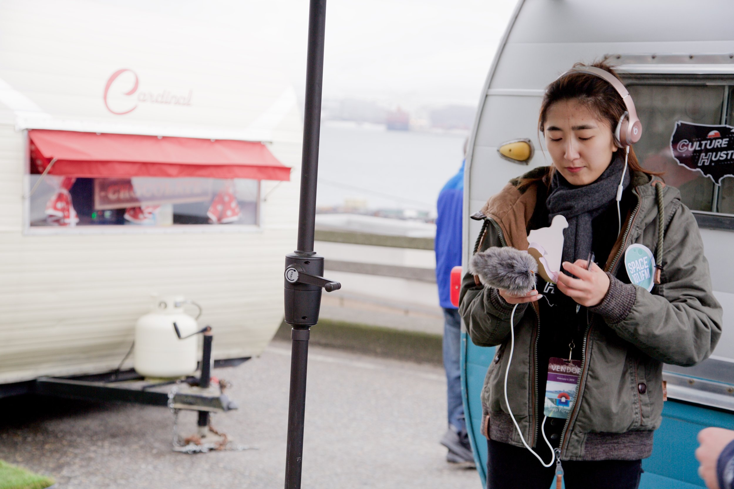 """- The decision to replace the Viaduct with a 2 mile tunnel was made and paid for by the taxbase to the tune of $3.3 billion. So we hit the street with the Mobile Incubators - four 1950s camper trailers doubling as recording studios - to ask the public how they felt about this change.""""Maybe we'll feel differently but right now it's a bit of a wake."""""""