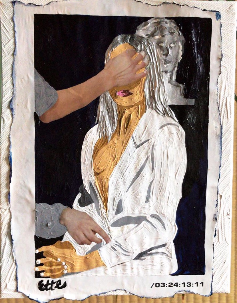 """""""Straight White Jacket After Labor Day"""" 8 x 10 acrylic"""