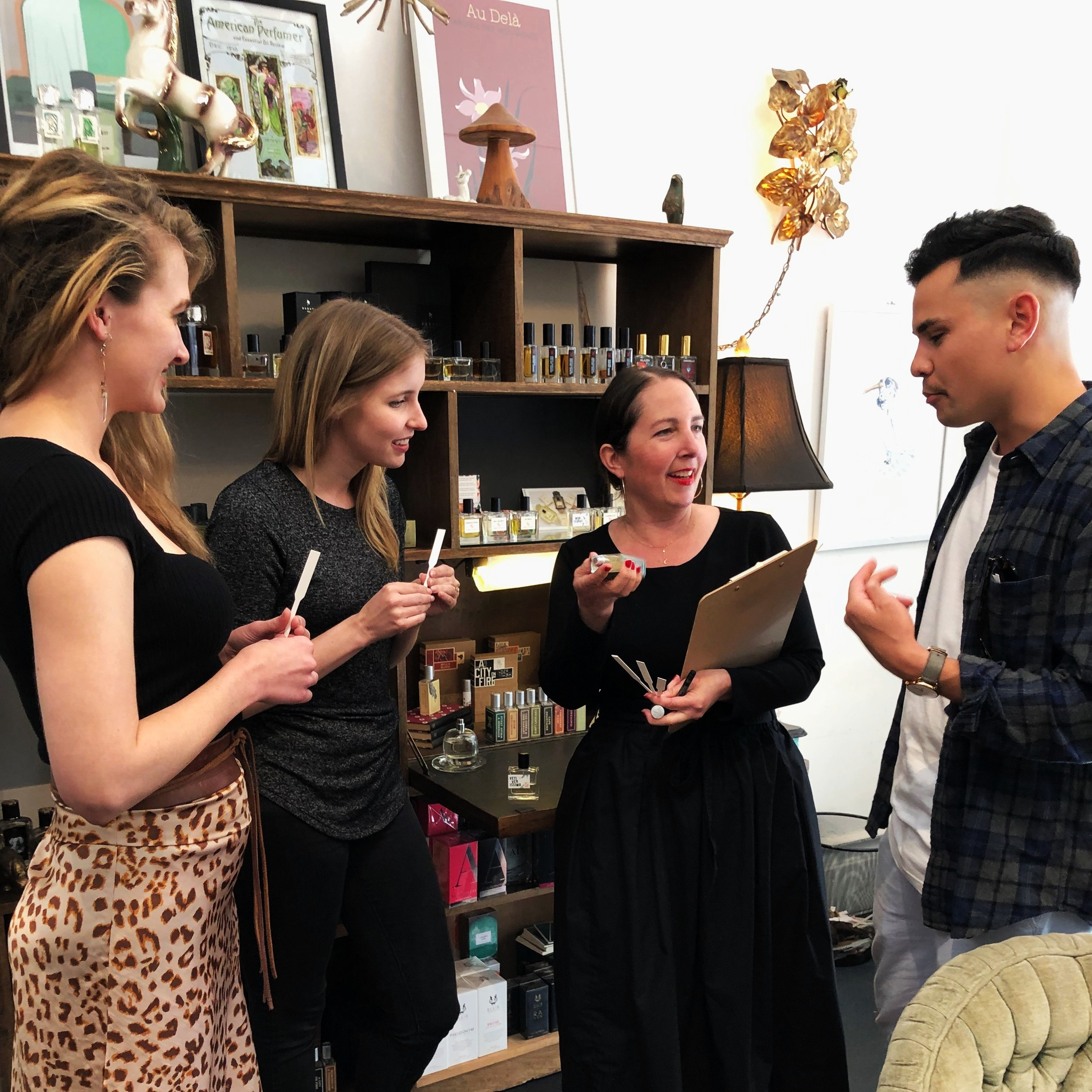 Evaluation & Testing - Our office is co-located with our fragrance boutique in a San Francisco neighborhood with 42% millennial residents. Onsite, we have an experienced team of scent evaluators as well as expertise in consumer testing using surveys, focus groups and in-store observations.