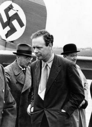 Charles Lindbergh in Germany in 1937