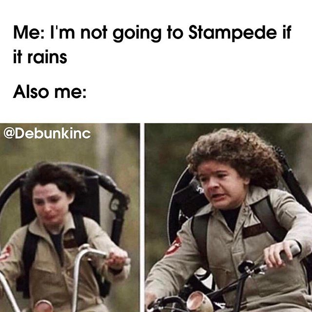 On a scale of 1 to #Eleven, how excited are you for the Stranger Things theme at @calgarystampede this year?   @netflix @netflixca  - - - - -  #debunk #whatdebunk #canada #calgary #calgarystampede #yyc #yycthings #strangerthings #midway #hawkins #upsidedown #netflix #yeehaw #rodeo #meme #igmemes #memesdaily #strangerthingsmeme