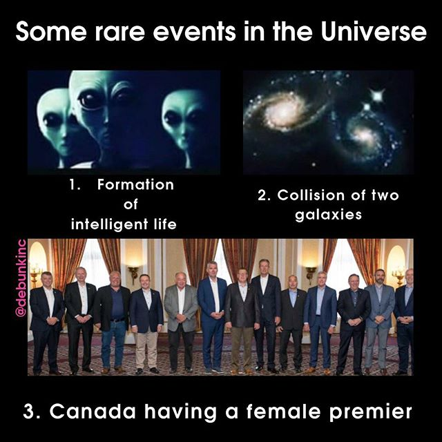 Canada's premiers got together for the Council of the Federation meeting last week, making one thing very clear:  One of these things is EXACTLY like the other.  - - - - -  #debunk #whatdebunk #cdnpoli #genderbalance #COF19 #saskatoon #canada #boysclub #wheretheladiesat #government #whytho #whoruntheworld #girls #feminism