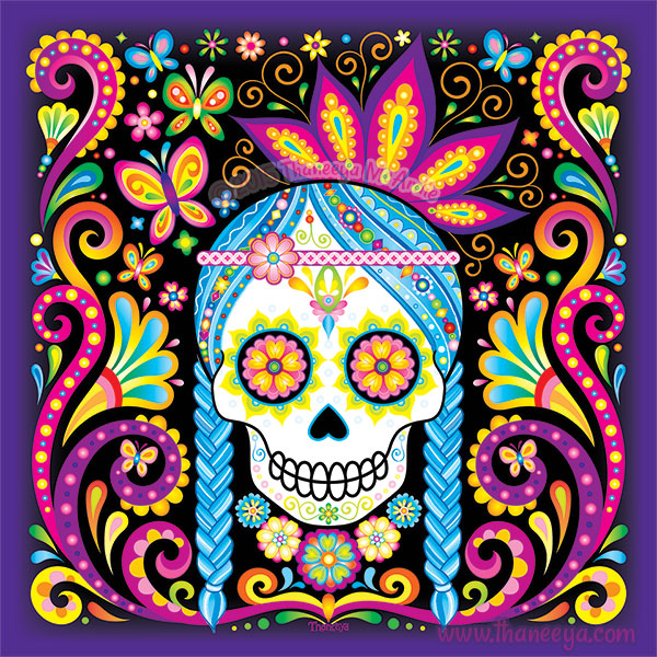 Day of the Dead Art - Check out the amazing art of Thaneeya McArdle, who also create coloring books and teaches art.