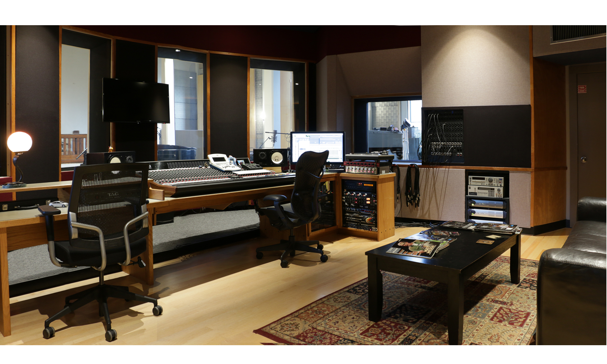 The control room - mains are in the black columns