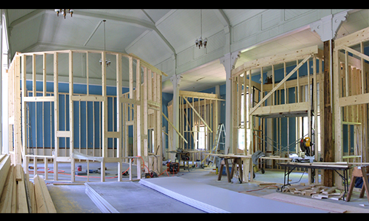 During construction - framing underway