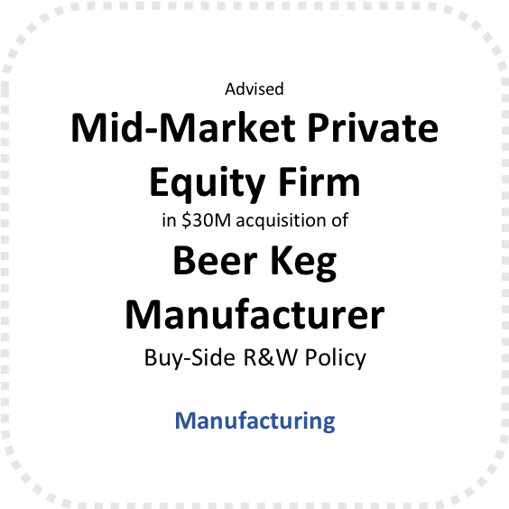 Buy-Side R&W Policy