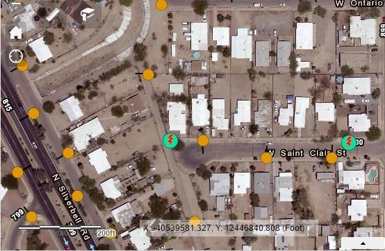 Screenshot from Tucson Read-Only Webmap
