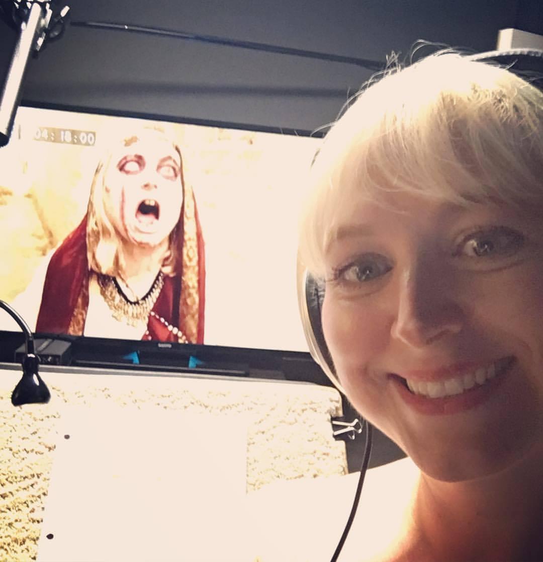 "Amanda enjoying her ADR Session as ""The Gypsy"" for CURSED WORLD PROBLEMS"