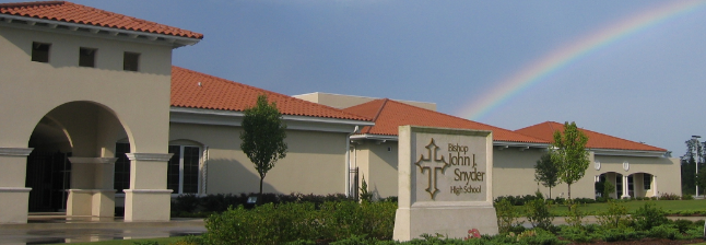 3. BISHOP JOHN J. SNYDER HIGH SCHOOL - -          A private college preparatory Catholic high school in Jacksonville, Florida. It is located in and administered by the Roman Catholic Diocese of St. Augustine. Star Rating: 4Address: 5001 Samaritan Way, Jacksonville, FL 32210, USAMcKay Participant: YESFTC Participant: YESGardiner Participant: YESGrade Levels: 09-12Accreditation: SACS/CASI