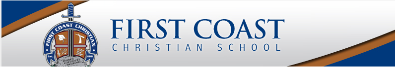 8. FIRST COAST CHRISTIAN SCHOOL  - -          A private school dedicated to Christian Star Rating: 4Address:  7587 Blanding Blvd. Jacksonville, FL 32244McKay Participant: YESFTC Participant: YESGardiner Participant: NOGrade Levels: PK-12Accreditation: FACCS