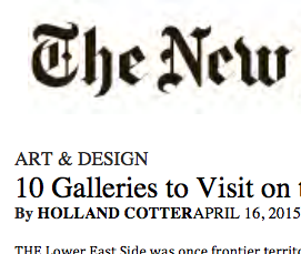 New York Times, must see list- 2015