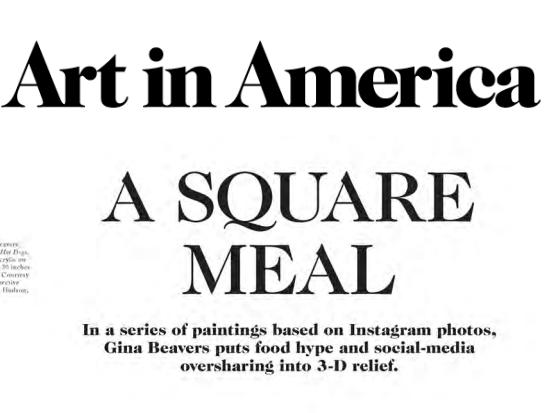 Art in America, review 2014