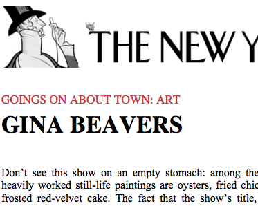 The New Yorker, Goings on About Town, 2012