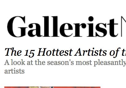 Galleriest, hot list - 2012
