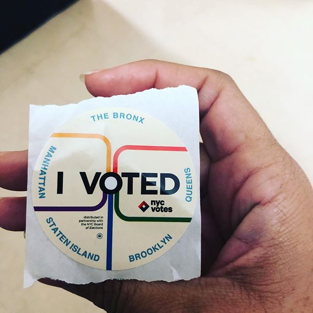 I went and voted because it matters #nycvotes